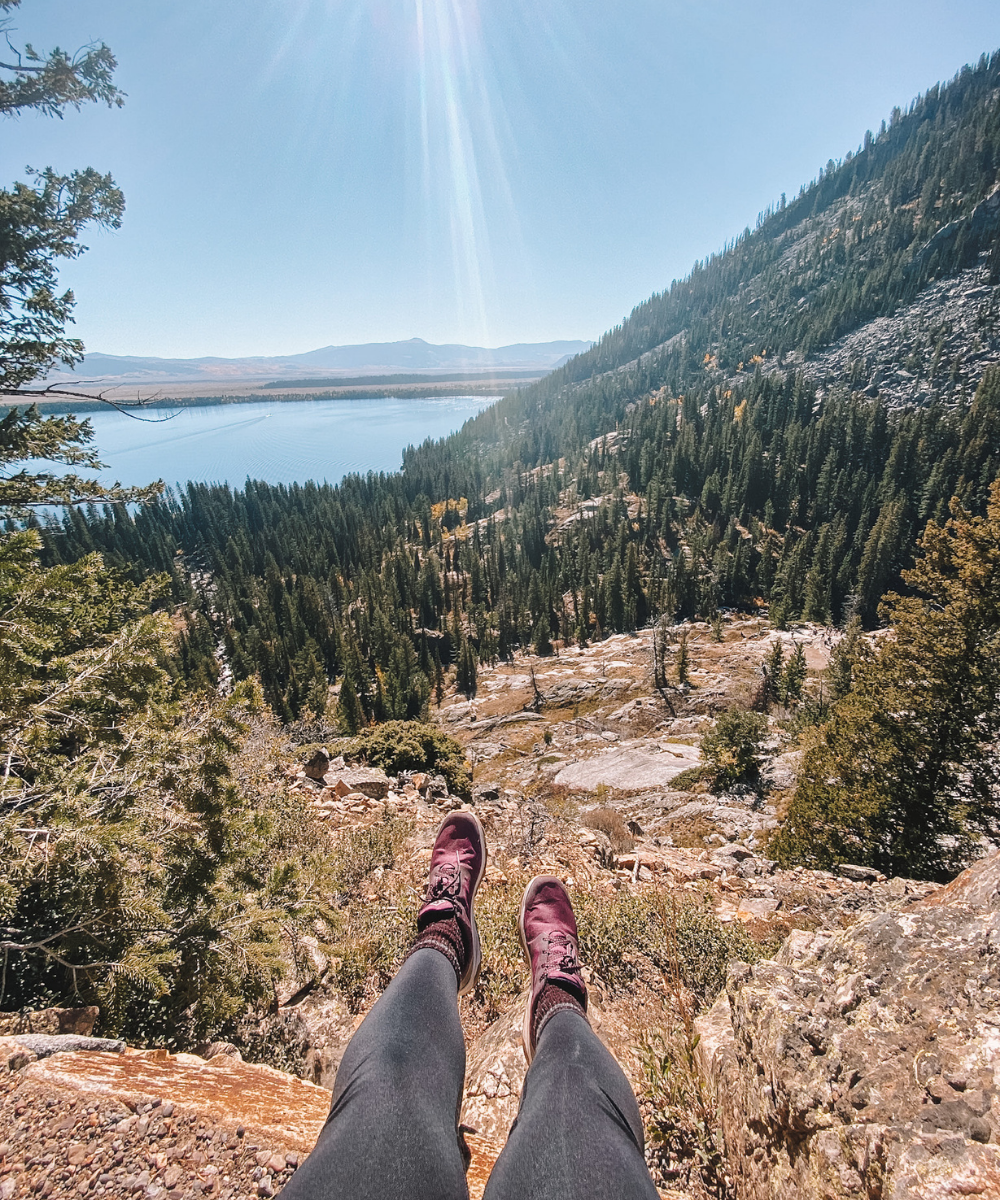 Travel blogger @amandasok recommends hiking shoes for hiking in Grand Teton