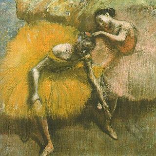 """Duas Bailarinas, Amarelo e Rosa"", Edgar Degas"