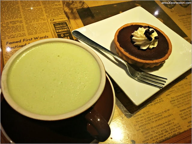Matcha Latte y Boston Cream Pie en el Barrio Italiano de Boston
