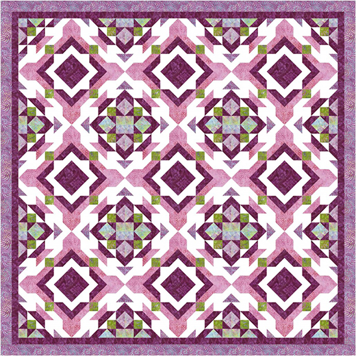 Pendant Vibe Quilt designed by Pam Boswell for Timeless Treasures Fabrics