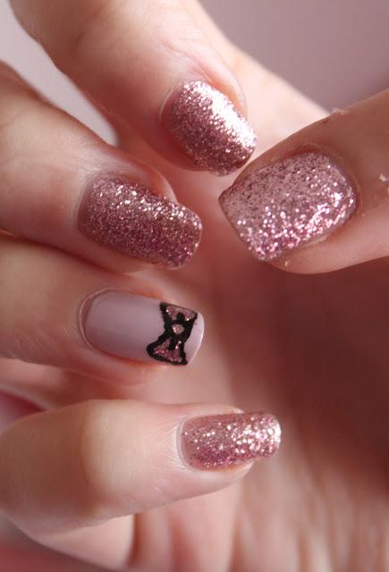 wah+bow+nails Nail Designs Short Nails To Do At Home on
