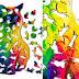 Quebra-cabeças nível expert de gato colorido tem 43 peças que também são gatos coloridos