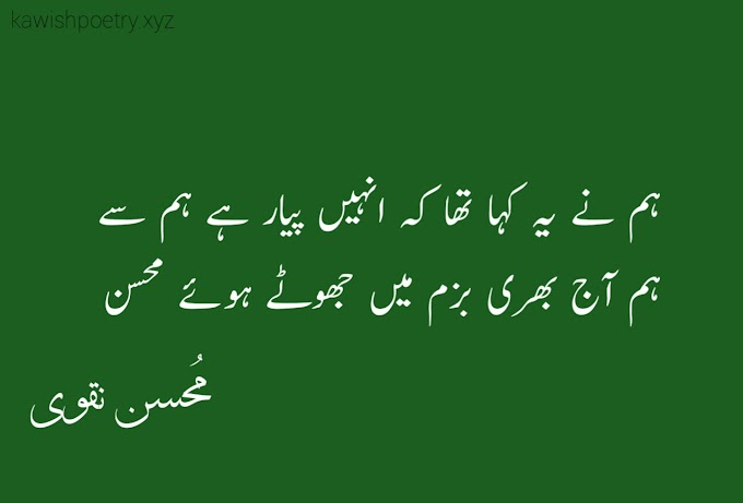Two Lines Poetry Of Mohsin Naqvi