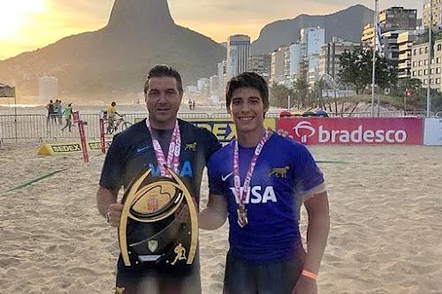 Los salteños Diego Rodríguez y Eliseo Morales #RugbyPlaya