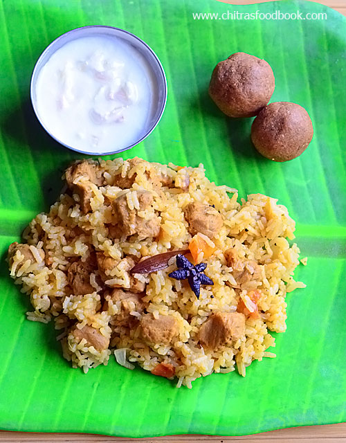 Soya chunks biryani / Meal maker biryani recipe