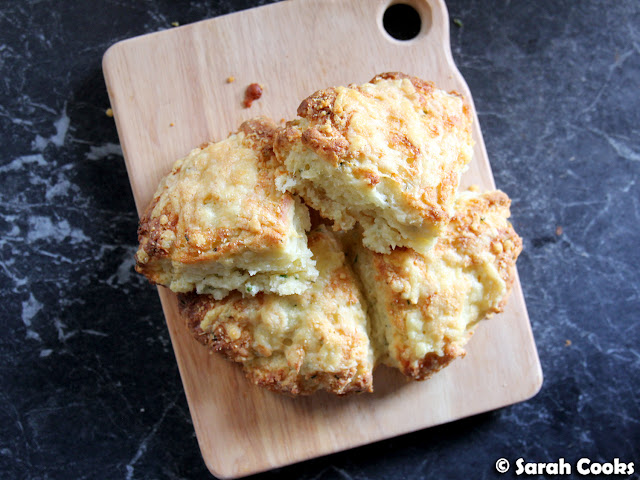 Small-Batch Cheddar and Chive Scones