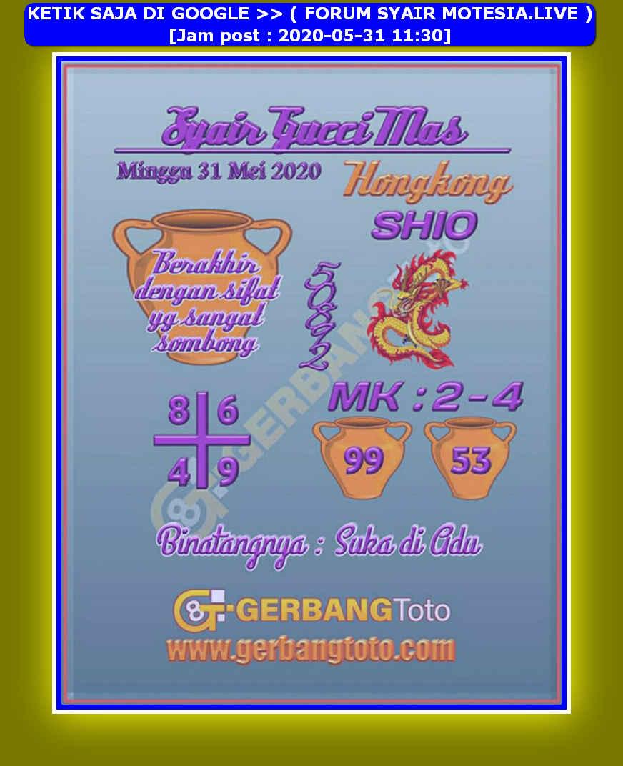 Kode syair Hongkong Minggu 31 Mei 2020 76