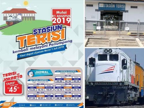 Tarif dan Jadwal Kereta Api ke Stasiun Terisi Indramayu