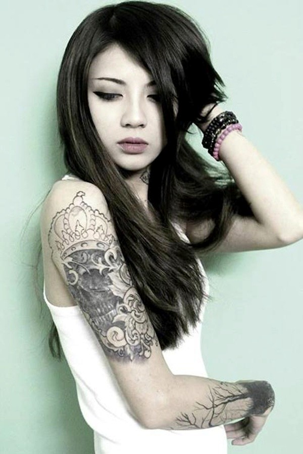 Hinh Xam Dep O Canh Tay Cho Nu