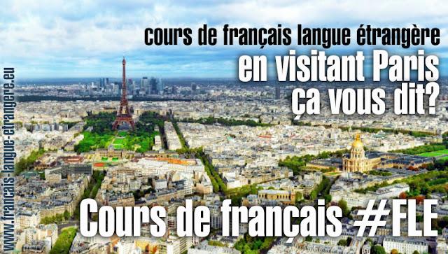 Cours de français en extérieur Paris