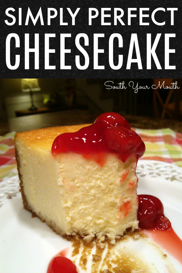 A no-fail recipe for New York style cheesecake that cooks perfectly every time.