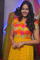 Pujitha in Yellow Ethnic Salawr Suit Stunning Beauty Darshakudu Movie actress Pujitha at a saree store Launch ~ Celebrities Galleries 025.jpg