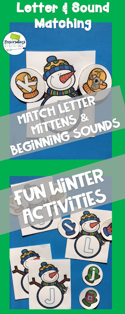 Winter Activities and Letter Recognition Centers