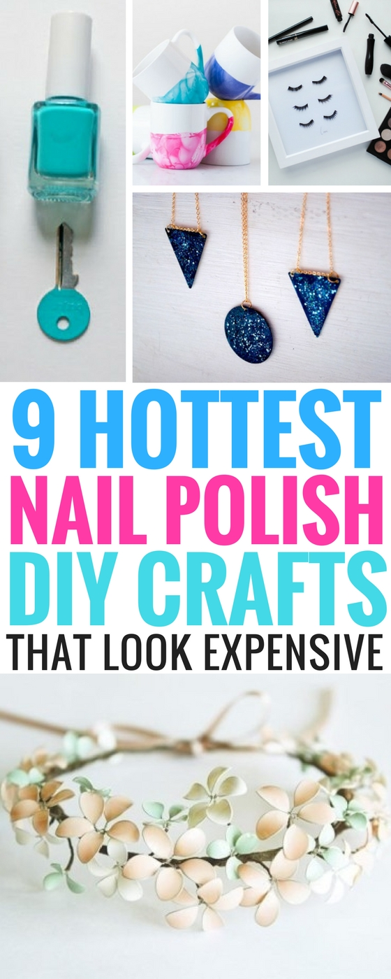 9 Hottest DIY Crafts You Can Do Using Nail Polish ...