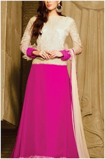 pink embroidered semi stitch suit