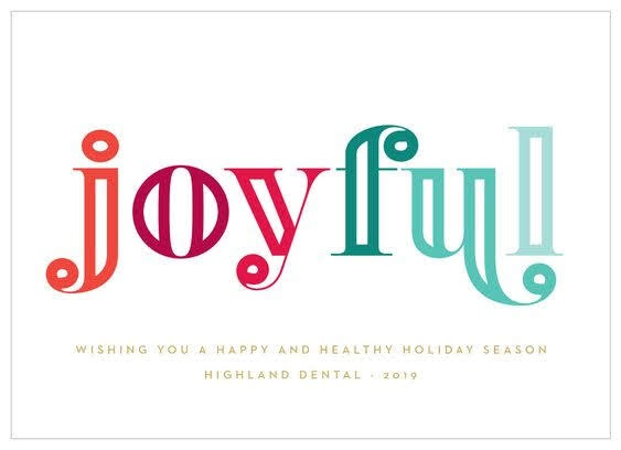 Bright Type Corporate Holiday Card | Basic Invite