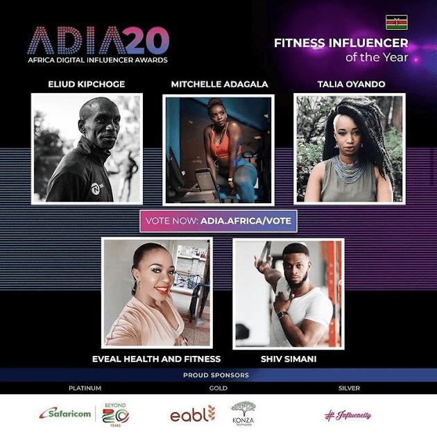 Africa Digital Influencer Awards(ADIA) nominees photo