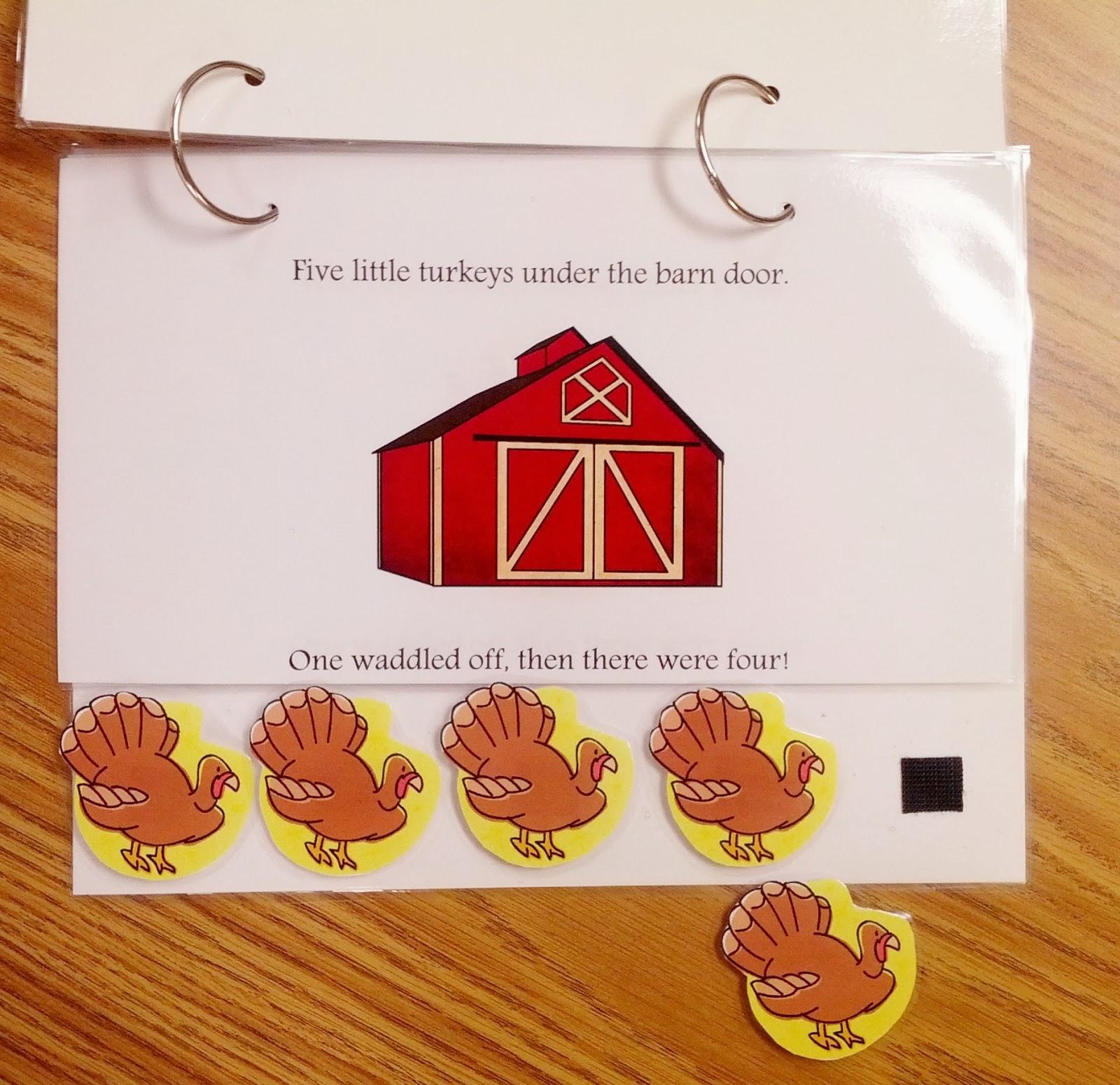 Teach Early Autism 5 Little Turkeys