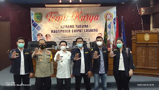 Wakil Bupati Empat Lawang Yulius Maulana Membuka Secara Resmi Temu Karya Karang Taruna