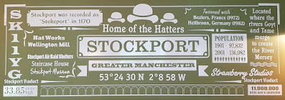 Stockport infographic at The Old Rectory Pub in Stockport town centre