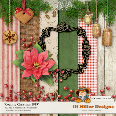 December Fan Freebie by Di Hiller