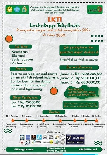 Lomba Karya Tulis Ilmiah NUTRITIONAL COMPETITION