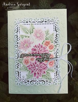 Andrea Sargent, Stampin Up, 2020, Ornate Garden, Blends on Vellum