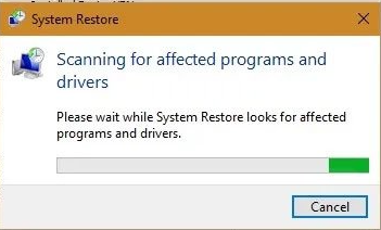 Please wait while your Windows files and settings are being restored, System Restore is initializing