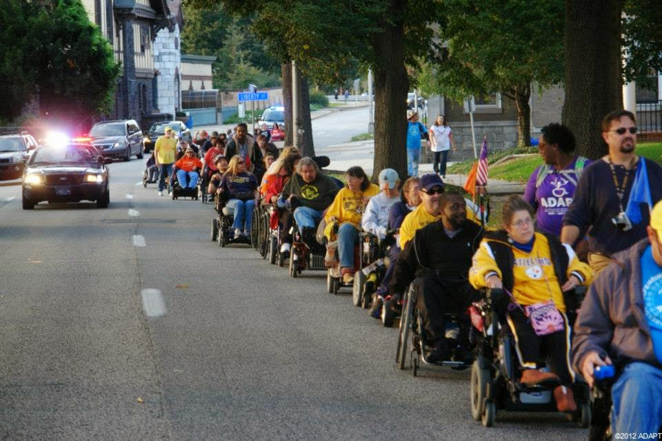 ADAPT marches for equal rights