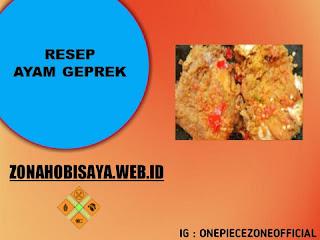 MUDAH !!! Resep Membuat Ayam Geprek
