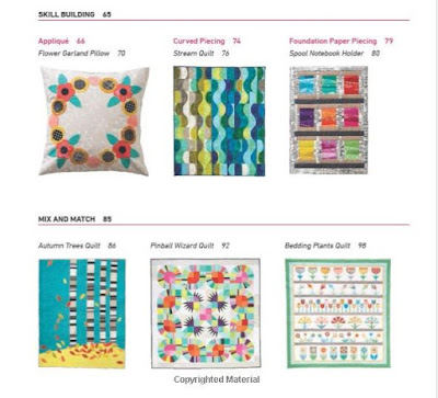 quilts and projects in the Patchwork and Quilting Basics book