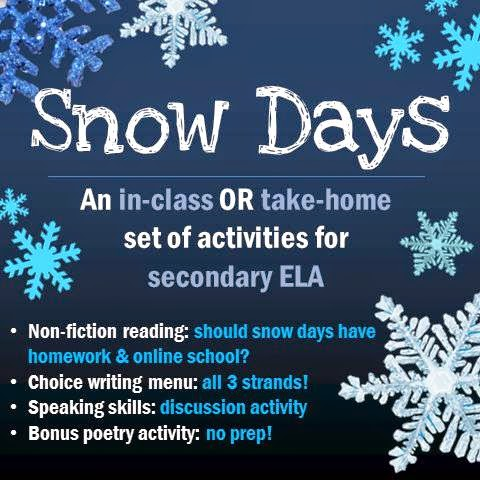 Snow Days: An In-Class or Take-Home Set of Activities for Secondary ELA