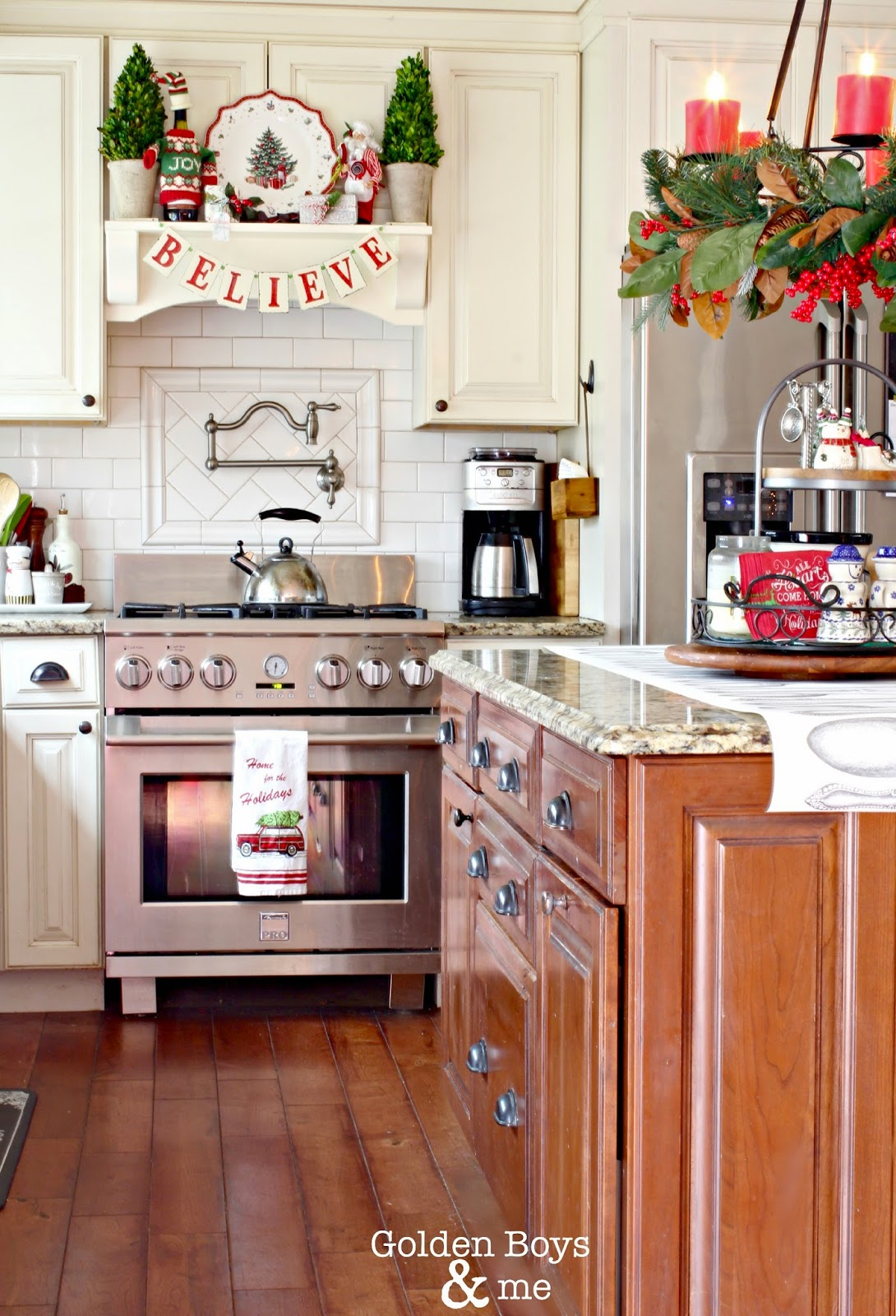 Christmas Decorating Ideas Over My Kitchen Cabinets