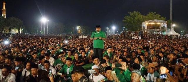 Ini Pidato Lengkap Ketum GP Ansor dalam Apel Akbar 100 Ribu Banser di Lamongan