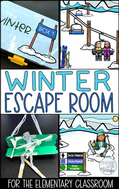 Escape Rooms are missions that involve solving riddles and tasks to find clues to open a locked box. This one is perfect for Winter Time! The information within the tasks is all about winter sporting events!