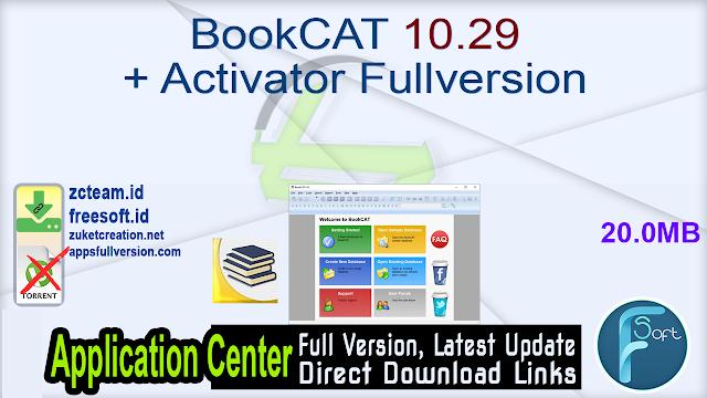 BookCAT 10.29 + Activator Fullversion