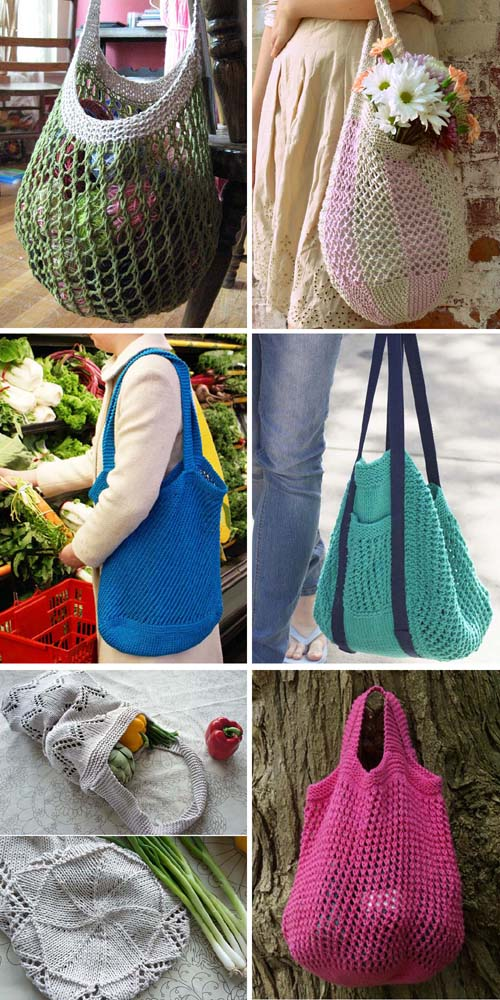 Knitting Market Bags - Free Patterns