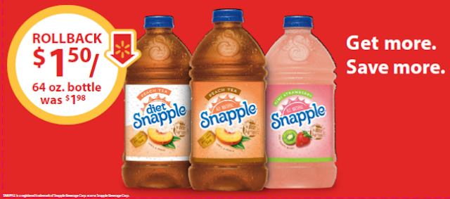 #SnappleRollback, #ad, Snapple on Rollback, Deals, Coupons, Walmart Rollbacks, Snapple deals