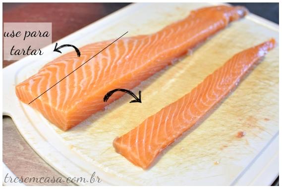 sashimi de salmão com fotos passo a passo