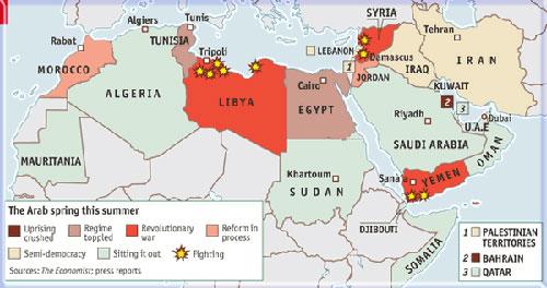 Arab Spring sendiri sebuah istilah yang penuh sentimen bagi dunia barat. Media barat menggambarkan revolusi-revolusi yang berkesinambungan dari Negara Arab yang satu ke Negara Arab lain tersebut bagaikan musim semi yang indah.