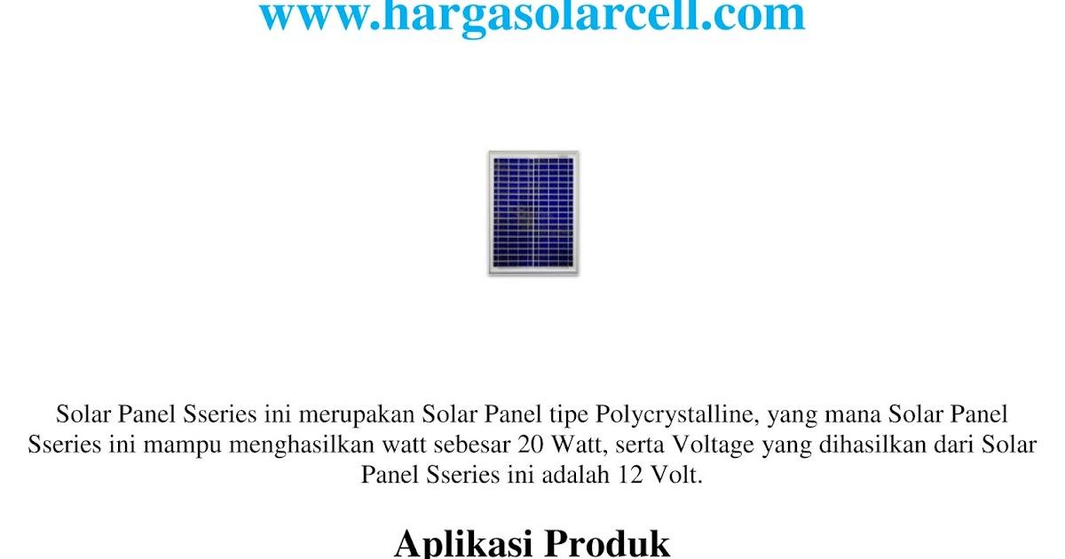 Sunergy Indonesia Harga Marine Lantern Solar Cell