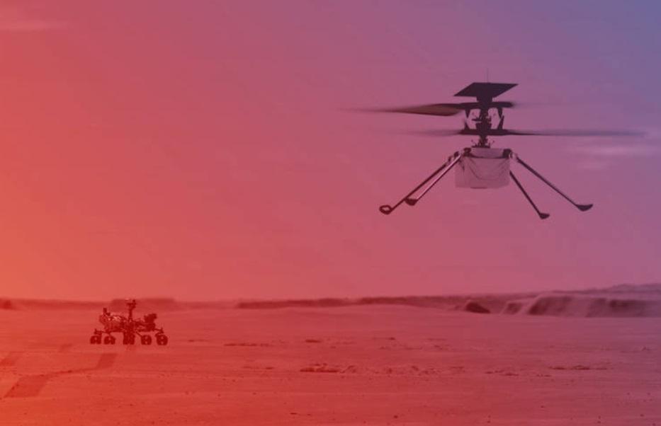 Nasa tentará fazer voo inédito em Marte com helicóptero espacial