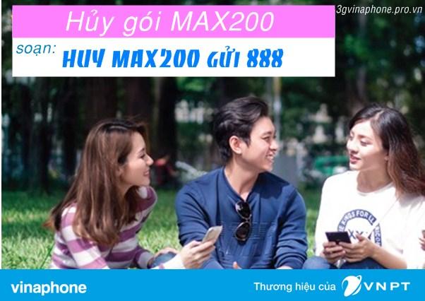 Hướng dẫn hủy gói cước MAX200 Vinaphone cho thuê bao