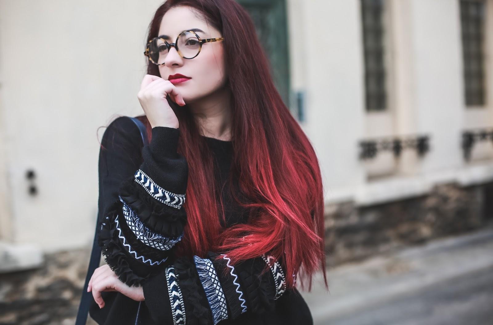 pull à manches bordées blog mode