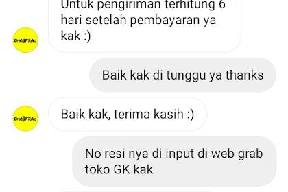Bukti Transfer & Bukti Chat CS grabtoko.com Dengan Korban - A.N Deny Dari Jakarta