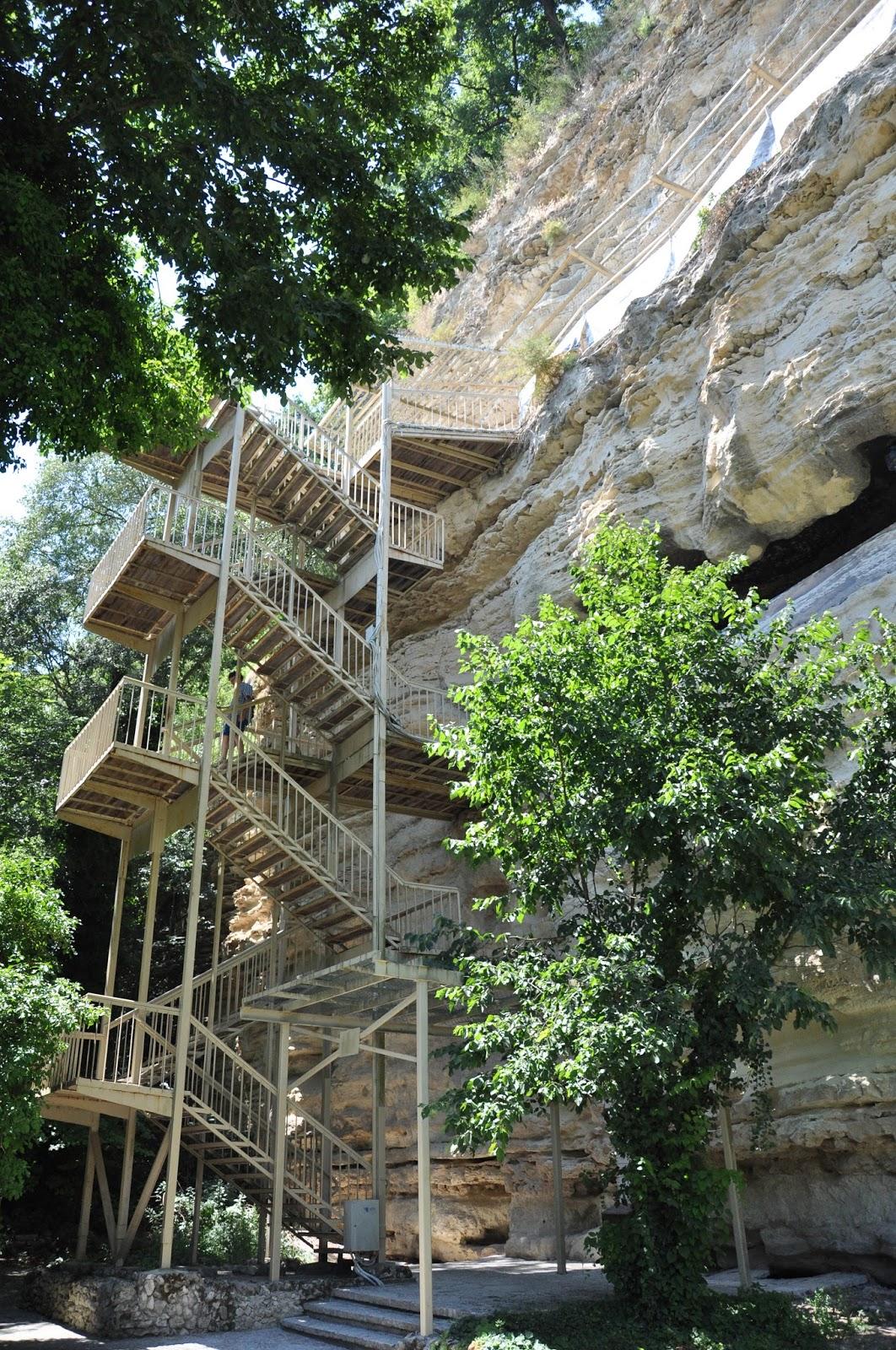 The staircase, Aladzha Monastery, Varna, Bulgaria