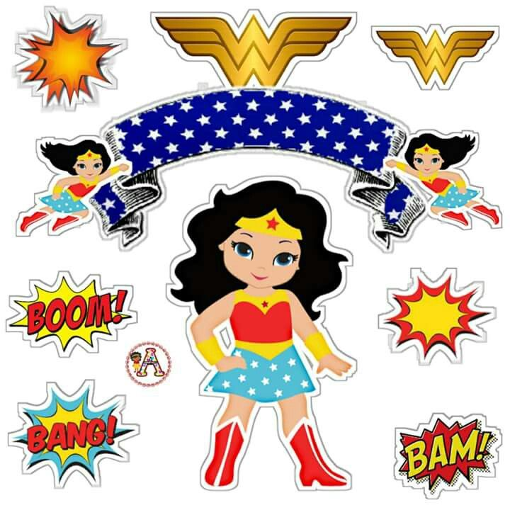 picture about Wonder Woman Template Printable identify Marvel Lady: Cost-free Printable Cake Toppers. - Oh My Fiesta