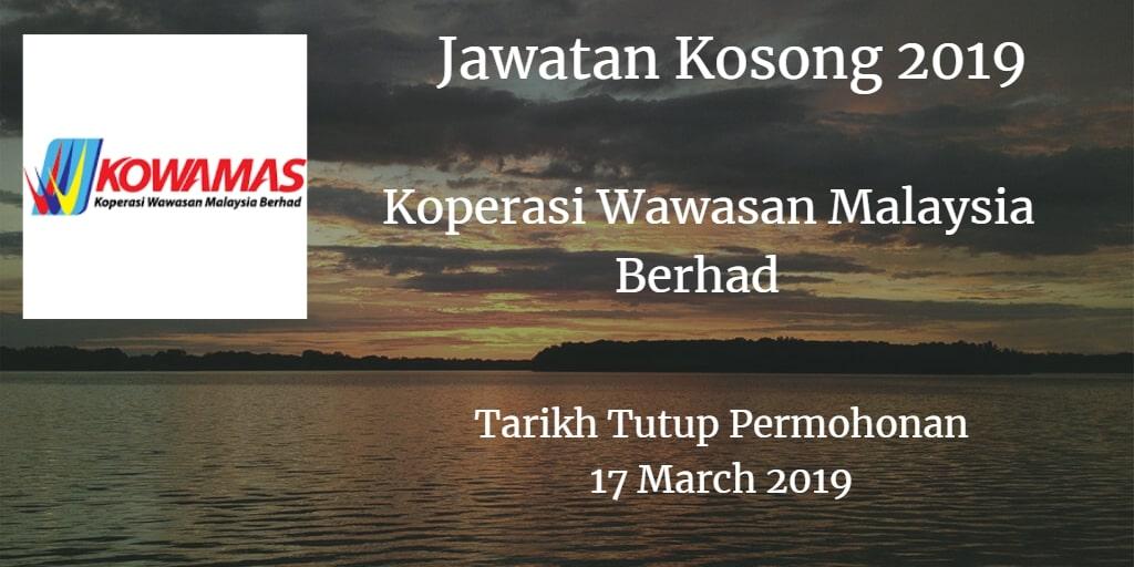 Jawatan Kosong KOWAMAS 17 March 2019