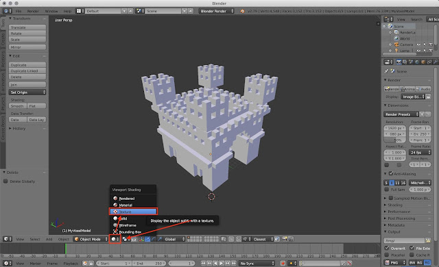 How to show textures from MagicaVoxel model in Blender
