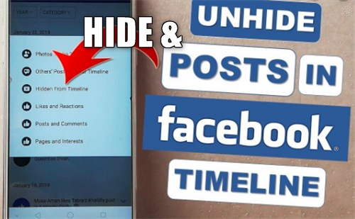 Hiding Posts On Facebook